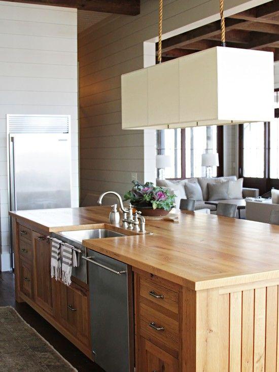 Cool Reclaimed Wood Kitchen Islands Ideas