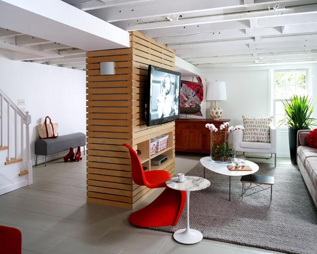 Loft-Like Basement Renovation contemporary-basement