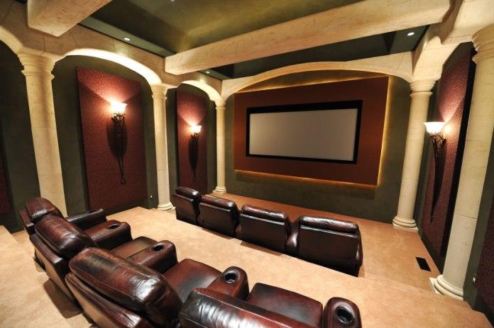 Modern Basement Home Theater Design Ideas
