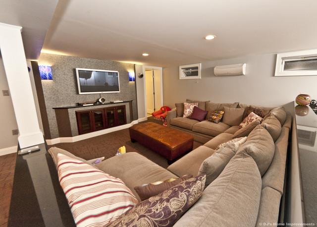 Modern Contemporary Basement Design Build Remodel modern-basement