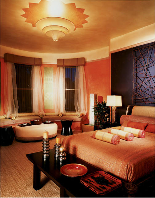 Showcase House Candlelit Room mediterranean-bedroom