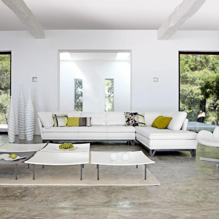 White Modern Living Room On with White Modern Living Room