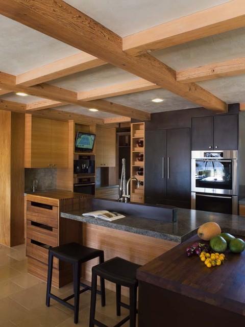 custom kitchen island with granite counters