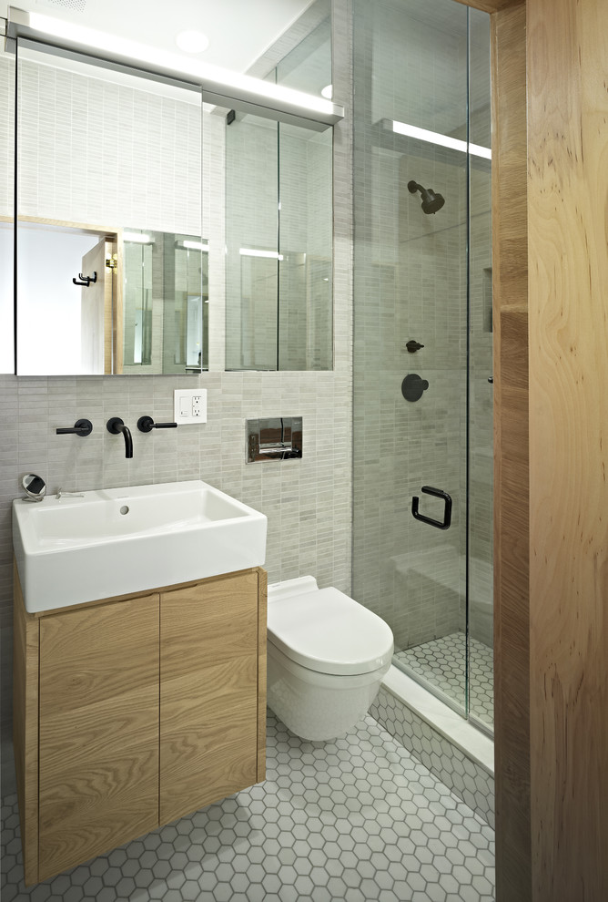 An Elegant Small Walk-In Shower Solution