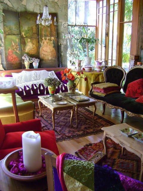 Bohemain Living Room Designs