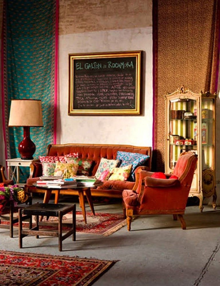 25 Awesome Bohemian Living Room Design Ideas on Bohemian Living Room Decor Ideas  id=27997