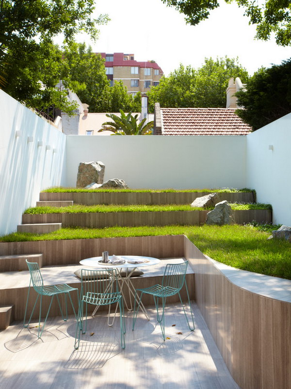 Contemporary-Outdoor-Patio-Cafe-Table-Sets-in-Terrace-Garden-Landscape