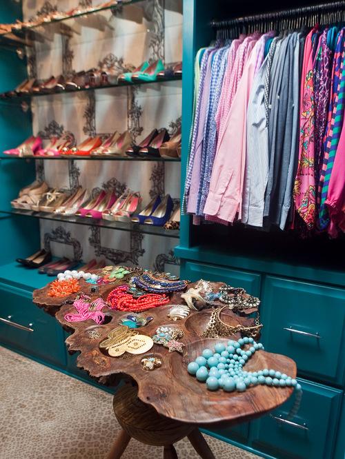 Eclectic Closet Design Idea