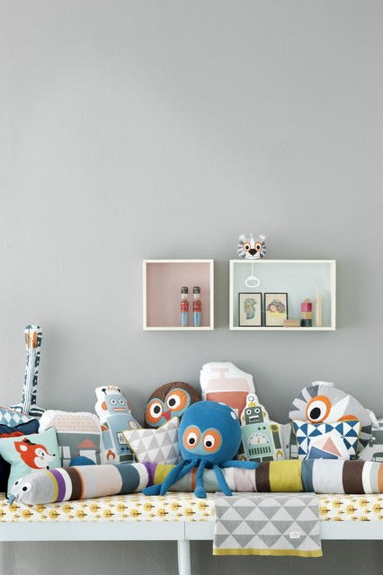 Fun Pillows for Kid's Room eclectic-kids-bedding