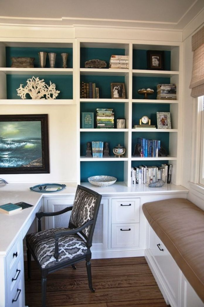 Home Office Design Ideas Beach Inspired hand made with big classic cupboard with office table and