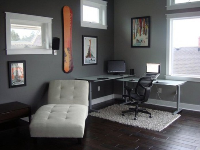 Home Office With Couch Asian Desc Exercise Ball