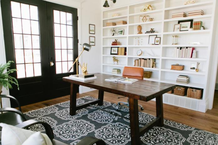 Home Office With Updated Farmhouse Style