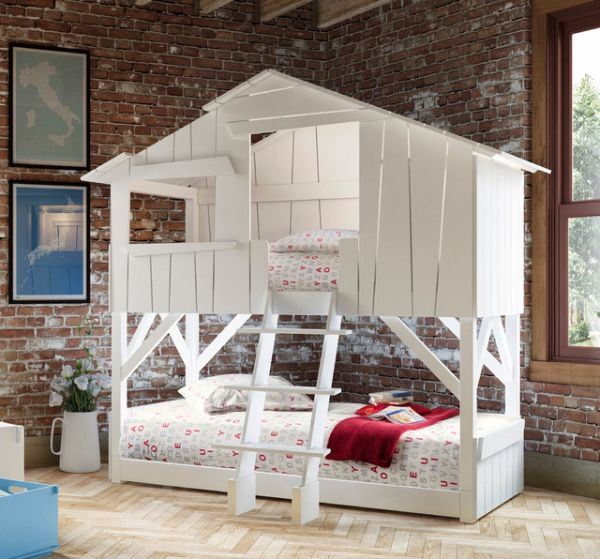 Kids-treehouse-bunk-bed-for-beach-style-bedroom-idea