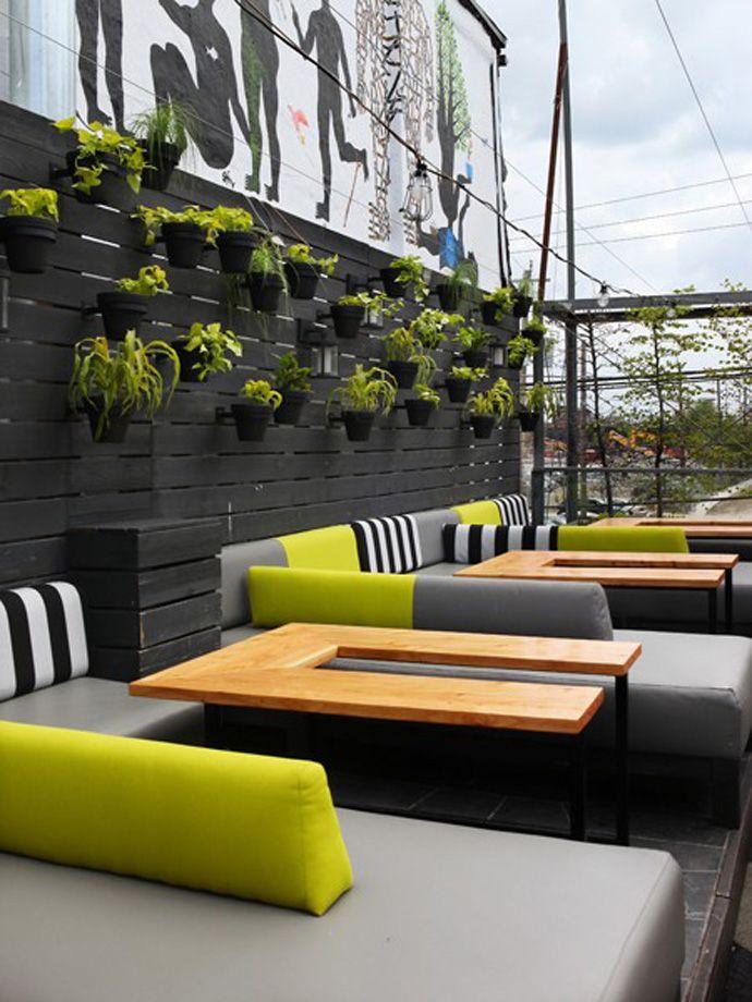 Outdoor Restaurant Industrial Exterior Design
