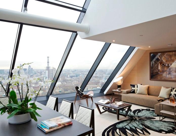 Penthouse Loft Living contemporary-living-room
