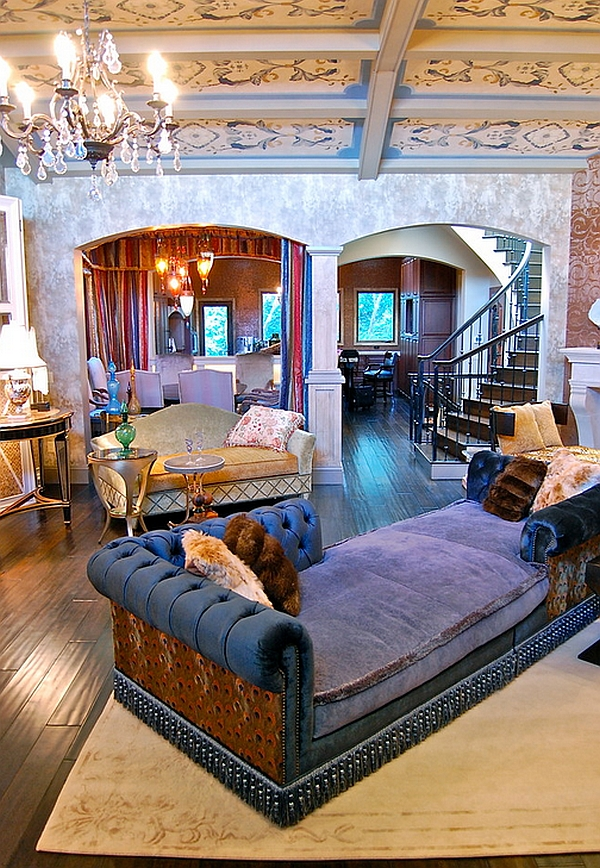 Plush-couch-in-purple-steals-the-show-in-this-Bohemian-living-room
