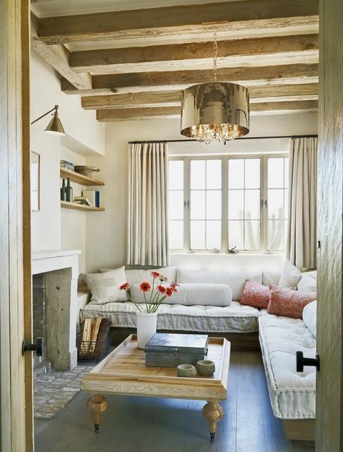 Rustic Eclectic Farmhouse mediterranean-living-room