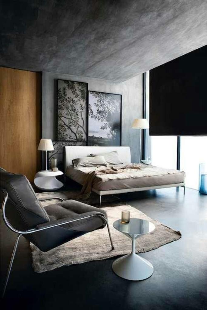 Serene Industrial Bedroom