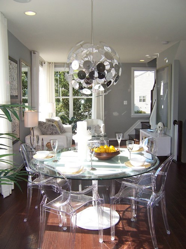 Transparent dining table chairs furniture 2016 trends