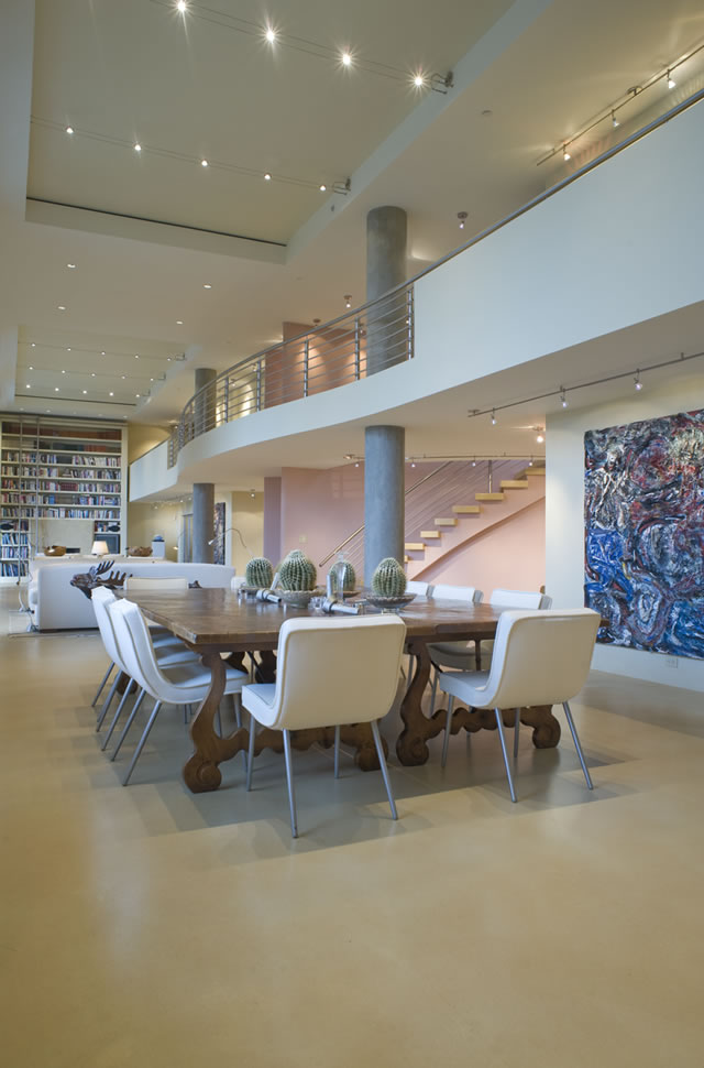 Urban Penthouse Loft modern-living-room