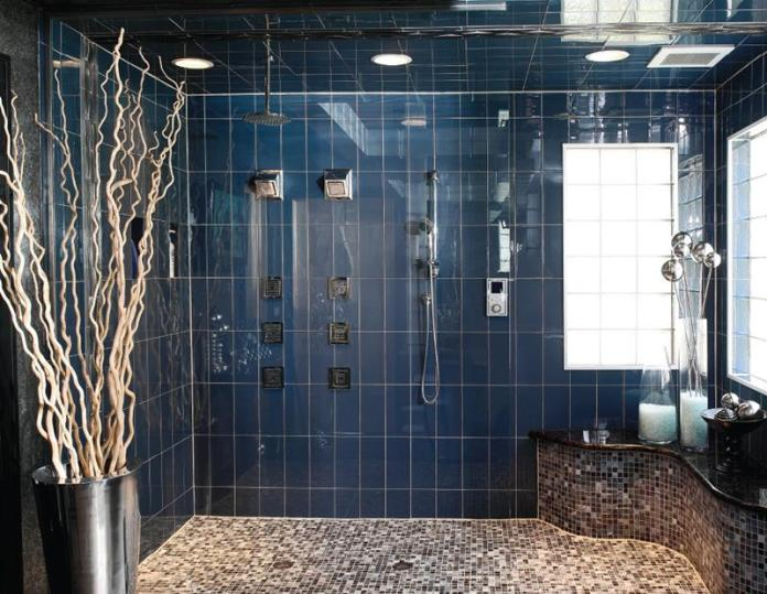 subway tile for a luxury walk-in shower