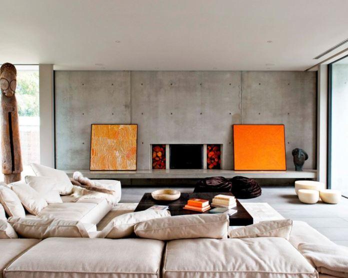Concrete Contemporary Living Room