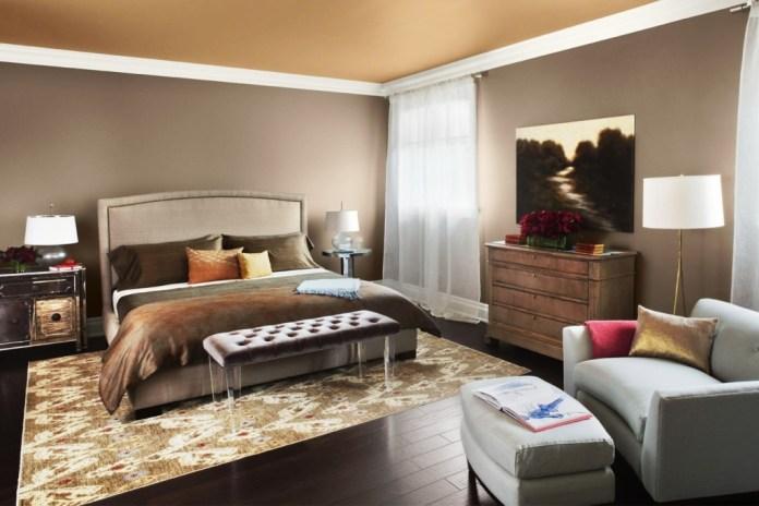 Elegant Warm Color Master Bedroom