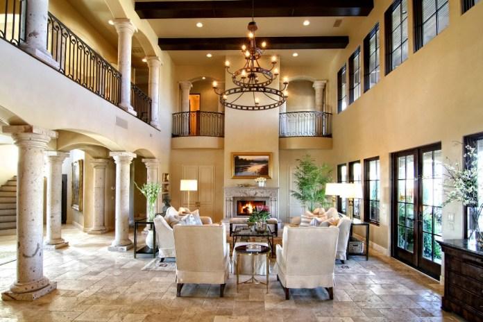 Tuscan Living Room Ideas (2)