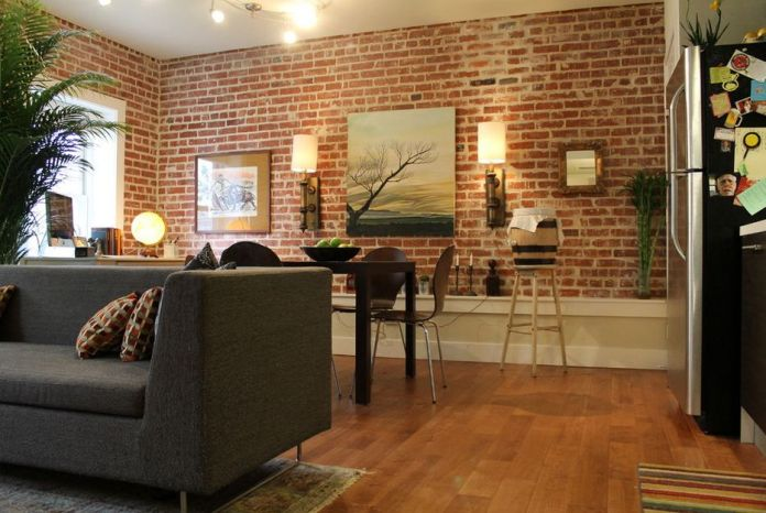 Living Room With Exposed Brick Wall (15)