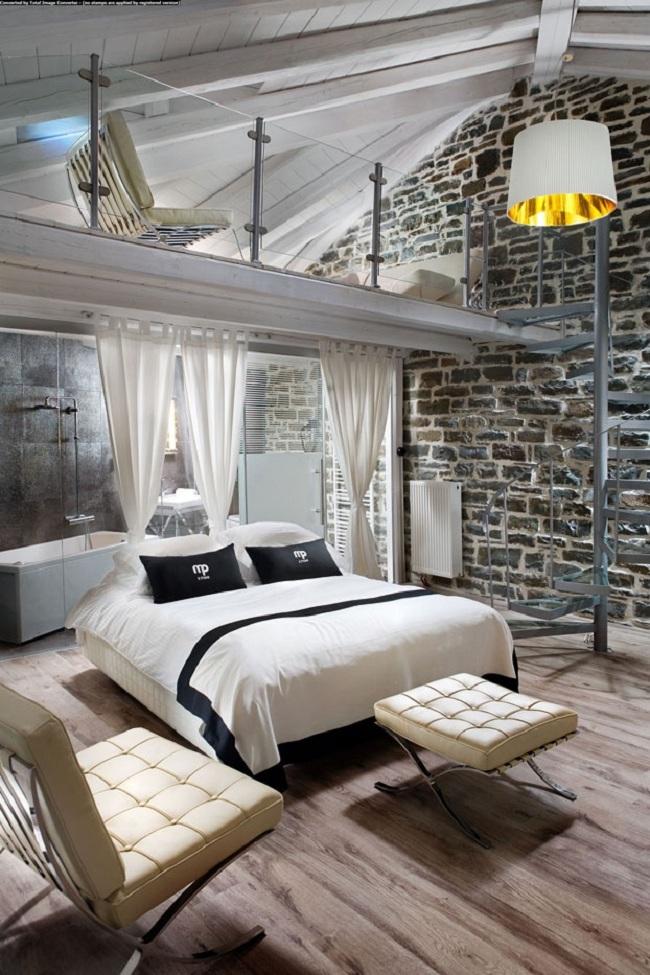 Sophisticated Loft Bedroom Design