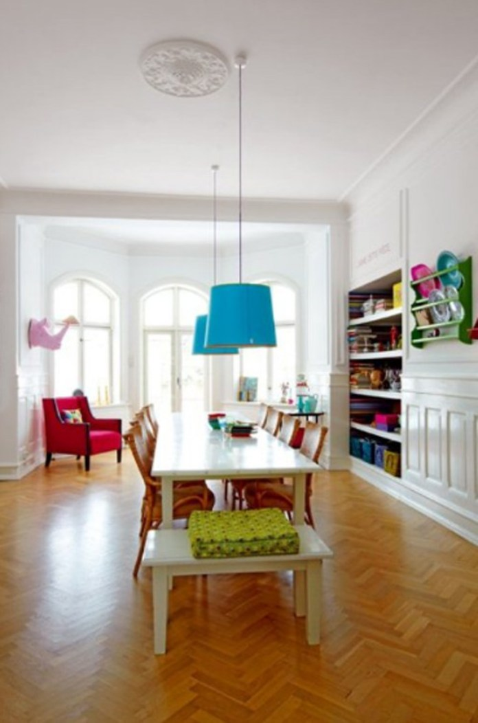 Stunning Colorful Dining Room (21)