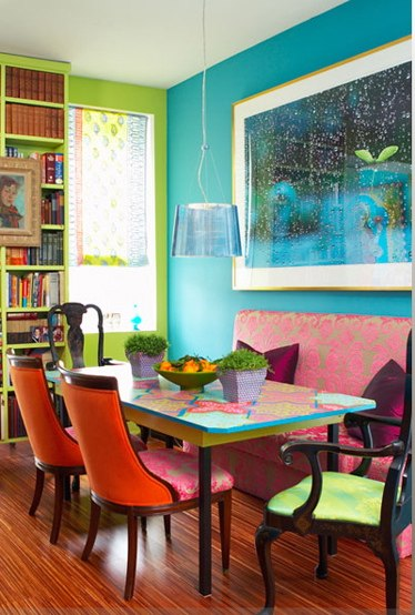 Stunning Colorful Dining Room (8)
