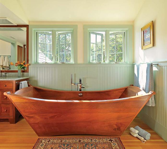 Amazing Bathrooms With Wooden Bathtub (11)