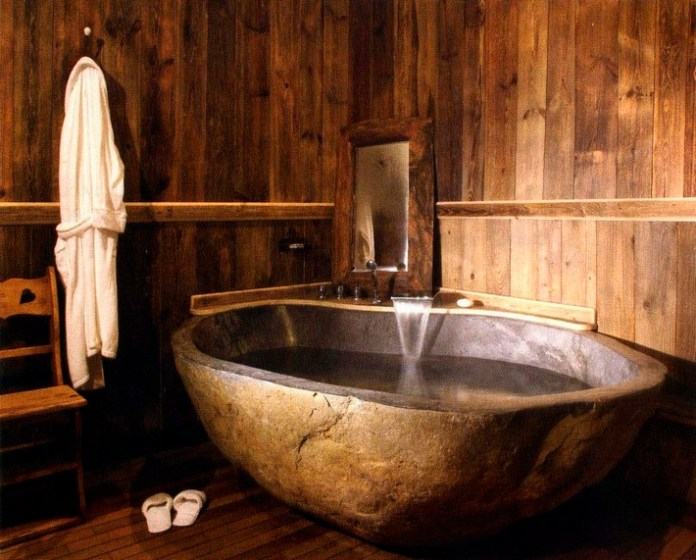 Amazing Bathrooms With Wooden Bathtub (8)