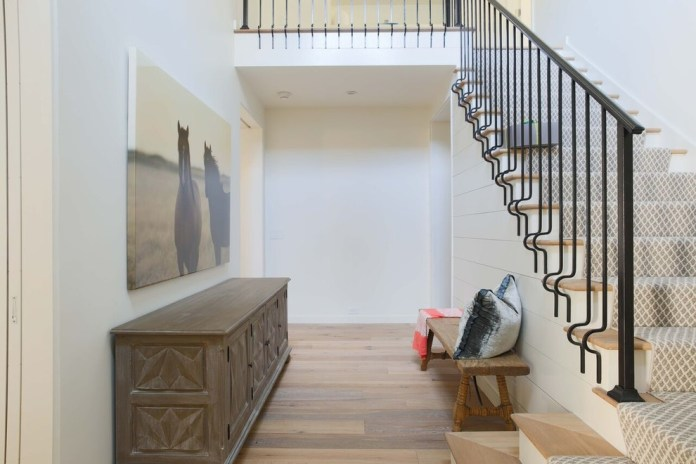 Modern Entry With Beautiful Staircase