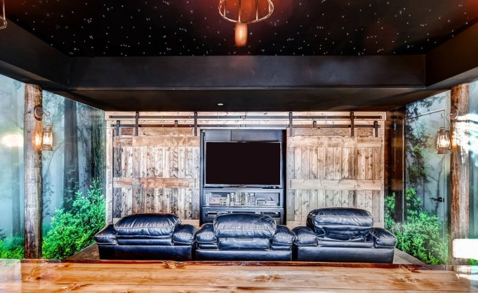 Rustic Home Theater Design