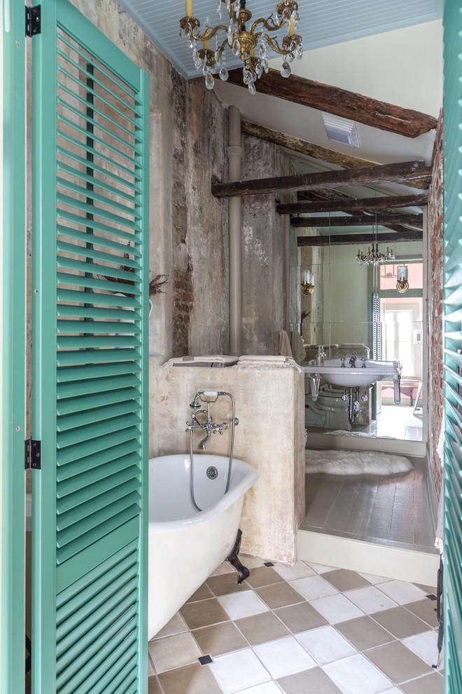 concrete-shabby-chic-style-bathroom