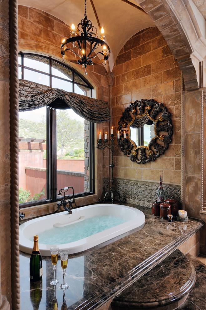 concrete-traditional-bathroom