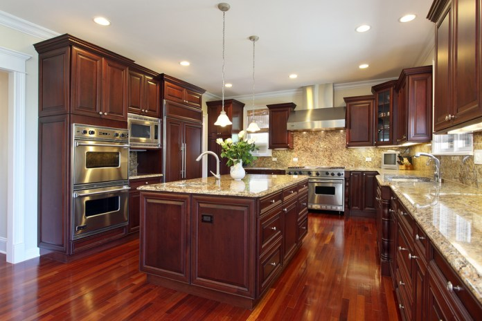 large-dark-wood-luxury-kitchen