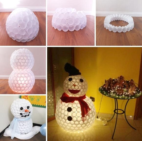 plastic-cup-snowman