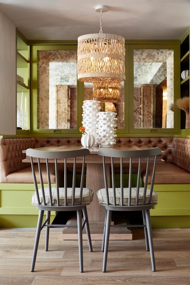 Monochromatic Contemporary Dining Room