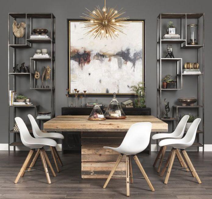Square Contemporary Dining Room