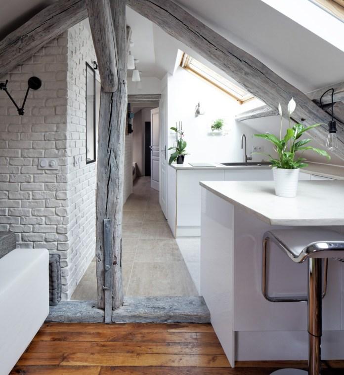 Attic Contemporary Kitchen
