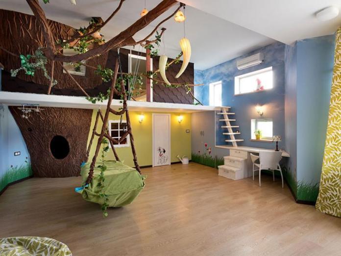 Forest Theme Kids Bedroom Design