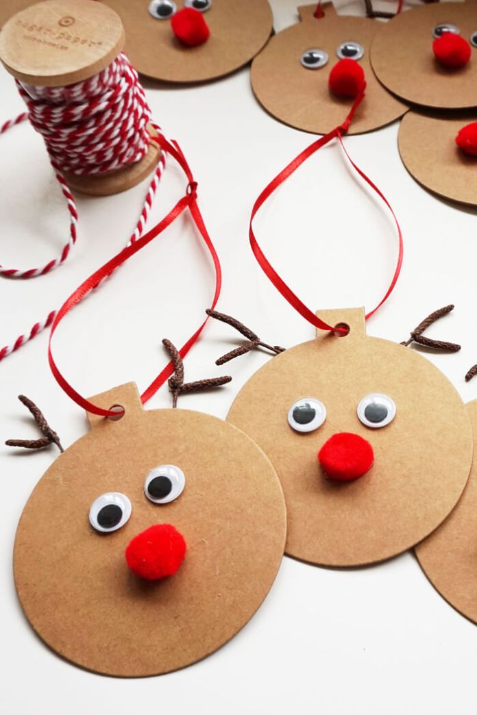 Rudolph Easy Christmas Craft