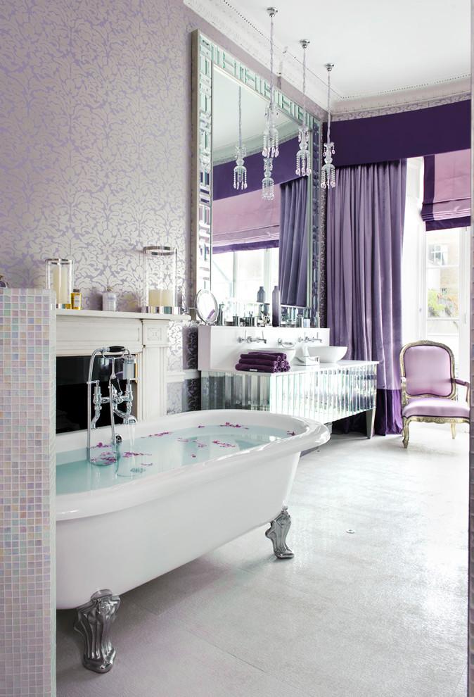 Shabby-Chic Style Master Bathroom