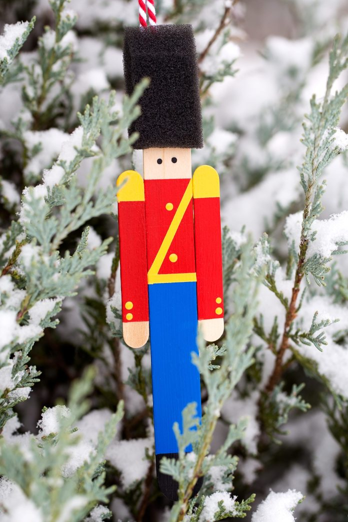 Wooden Toy Soldier Ornaments