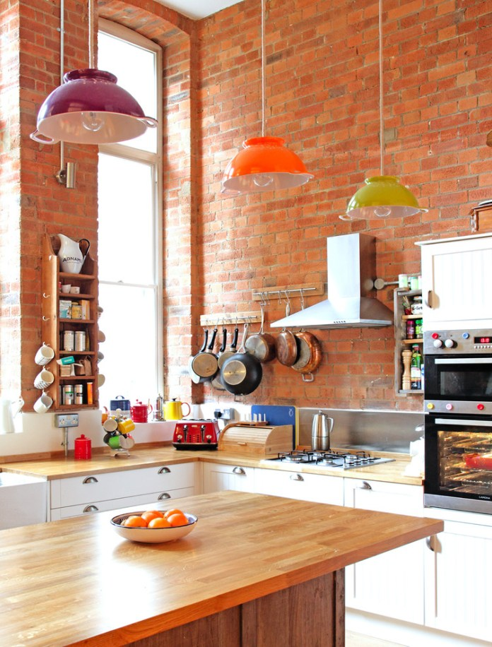 Eclectic Small Kitchen Design