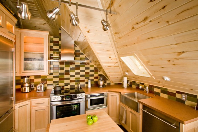 Rustic Small Kitchen Design