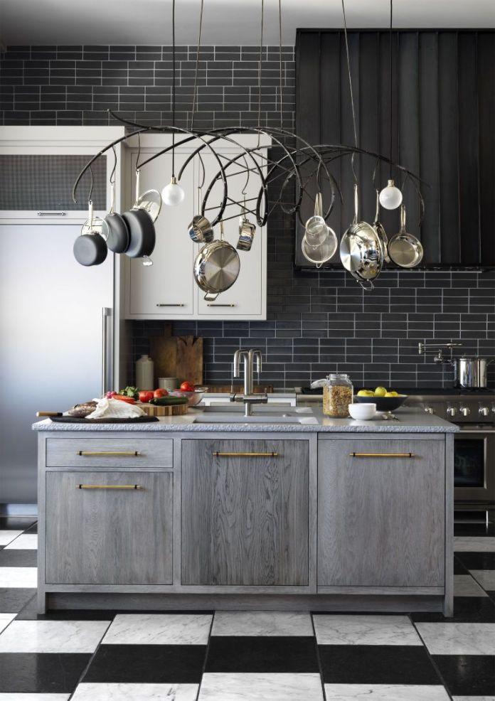 Black & White Kitchen With Subway Tiles Dwellingdecor